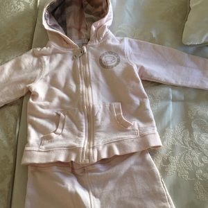 Burberry girl jump suit for 12m girl pink